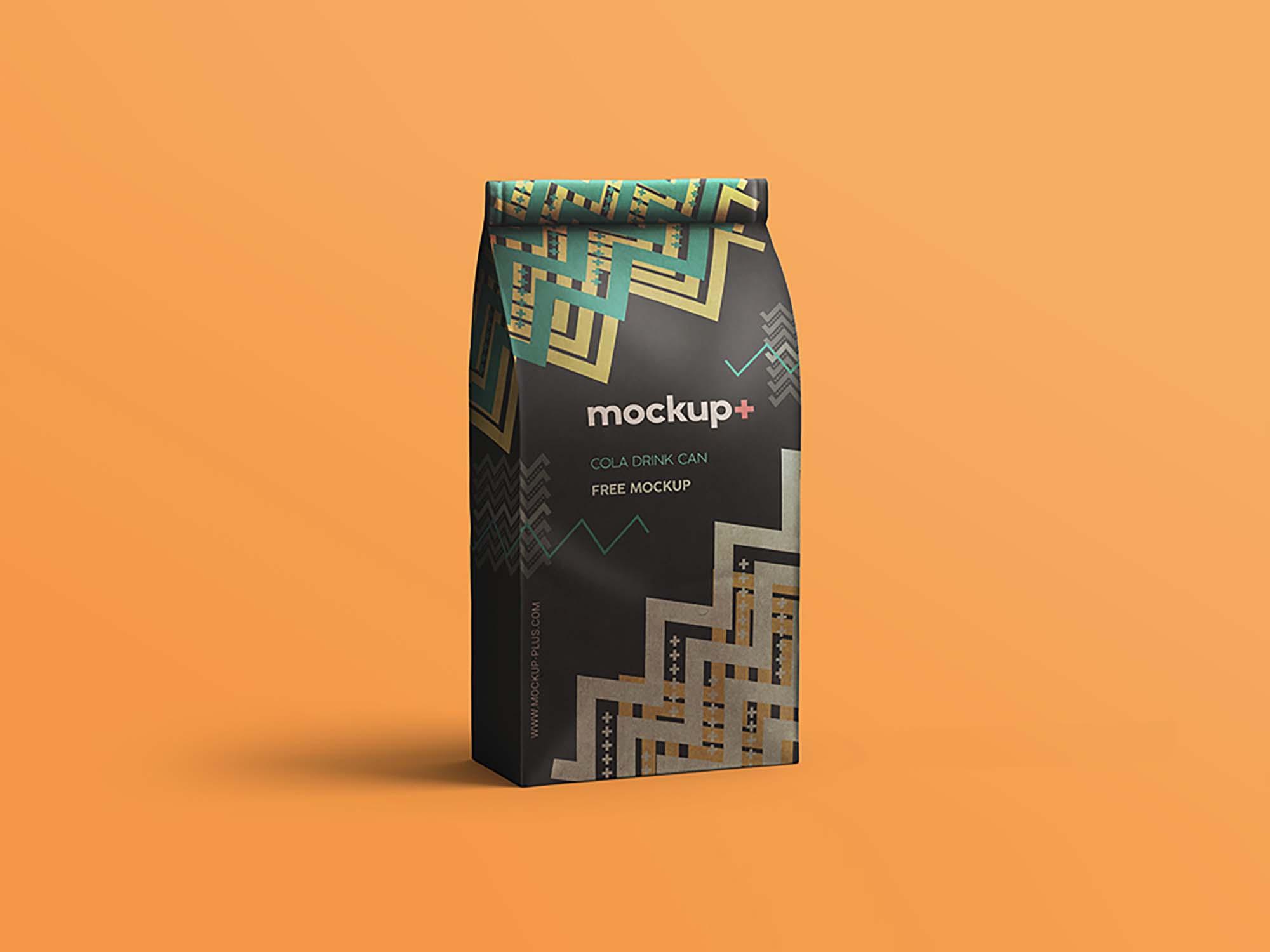 free coffee bag mockup  psd