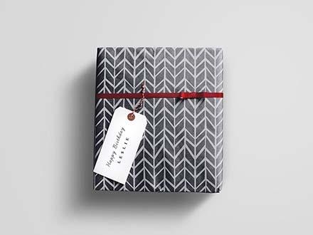 Gift Wrap Box Mockup