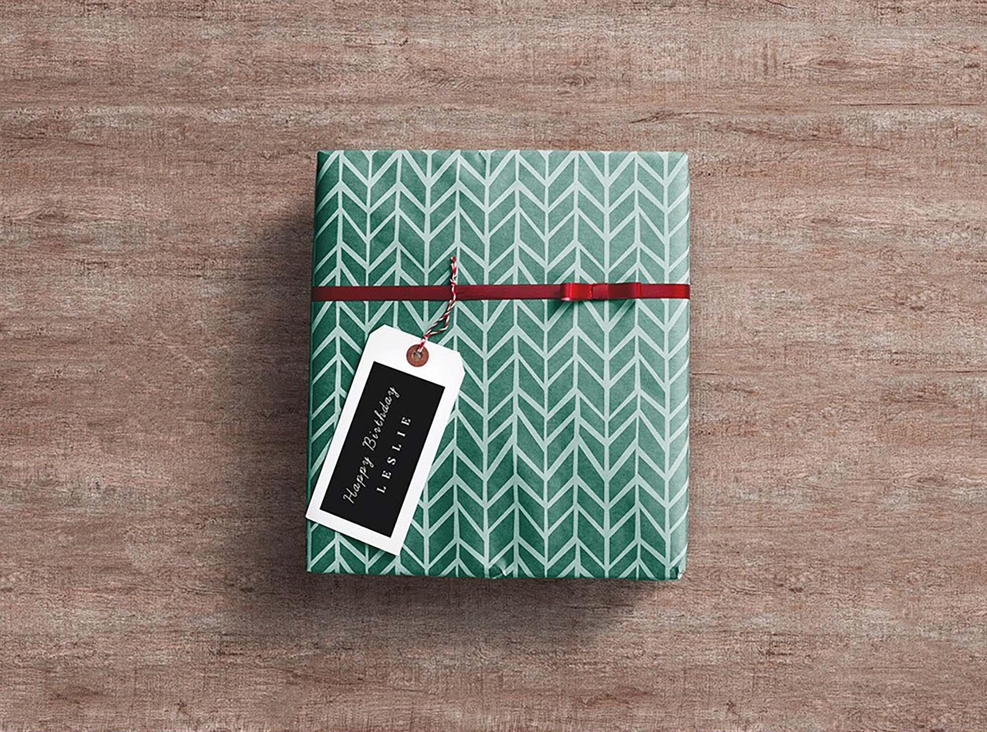 Gift Wrap Box Mockup 2