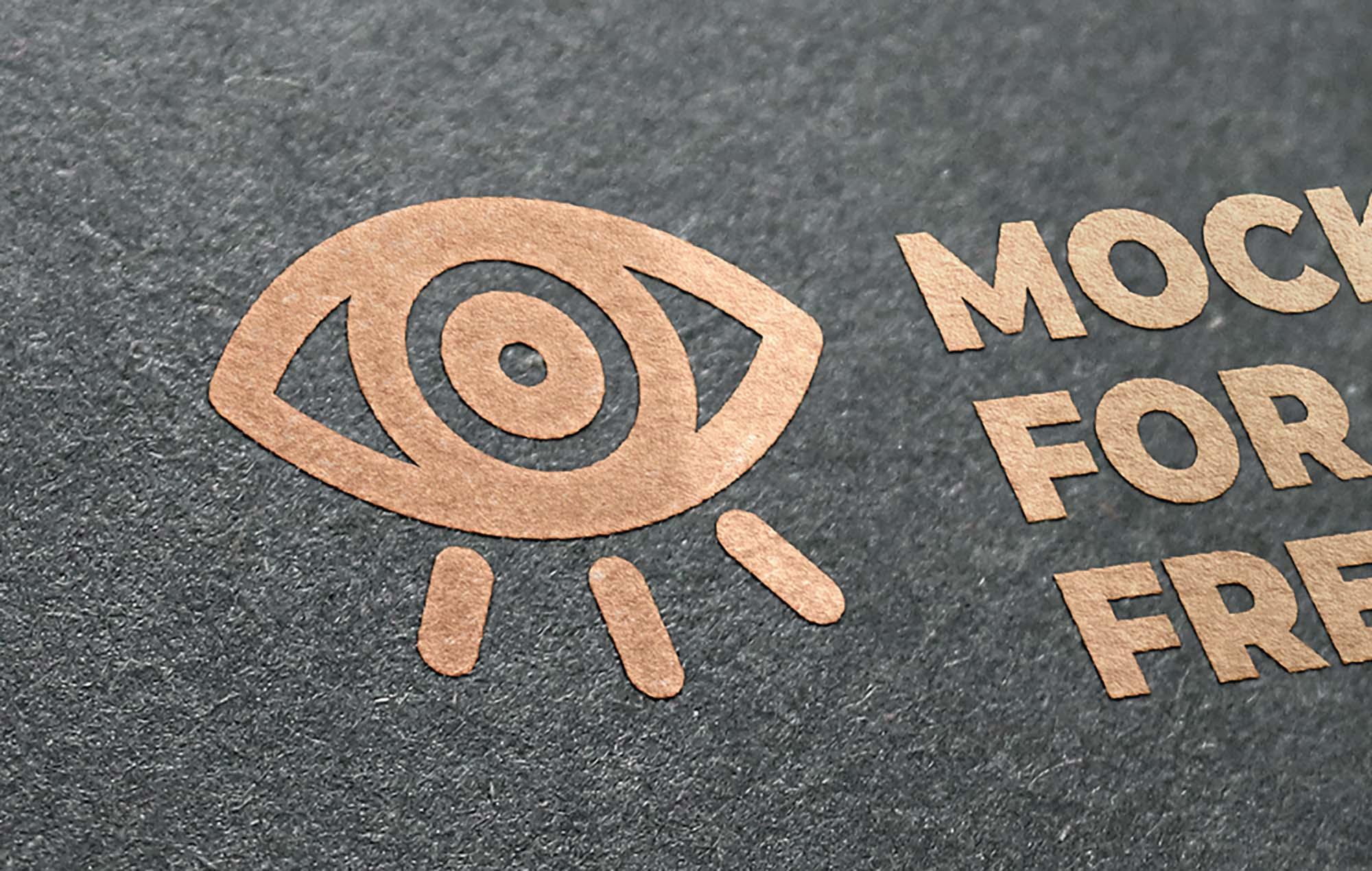 Golden Logo Mockup