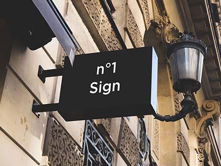 Hip Sign Mockup
