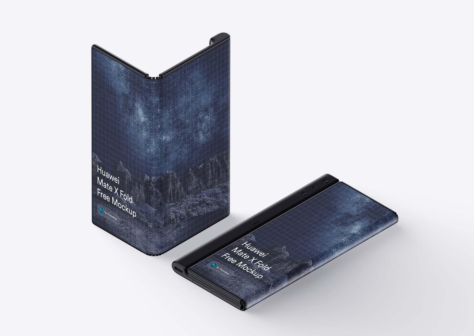 Huawei Mate X Phone Mockup