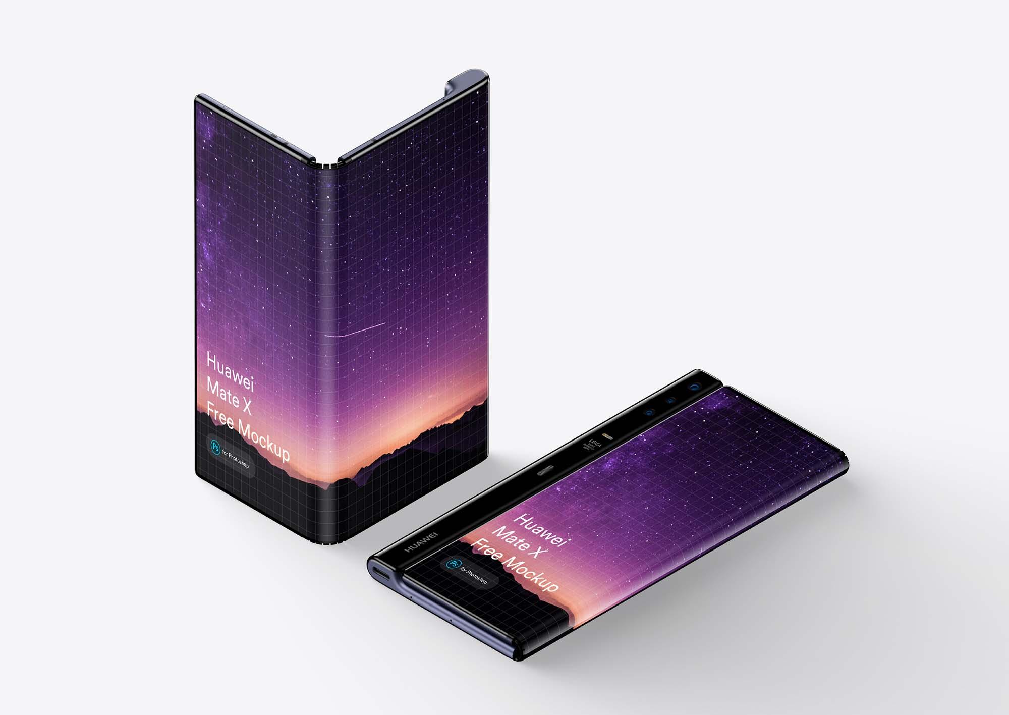 Huawei Mate X Phone Mockup 1