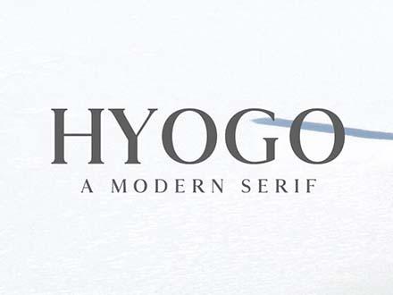 Hyogo Modern Serif Font