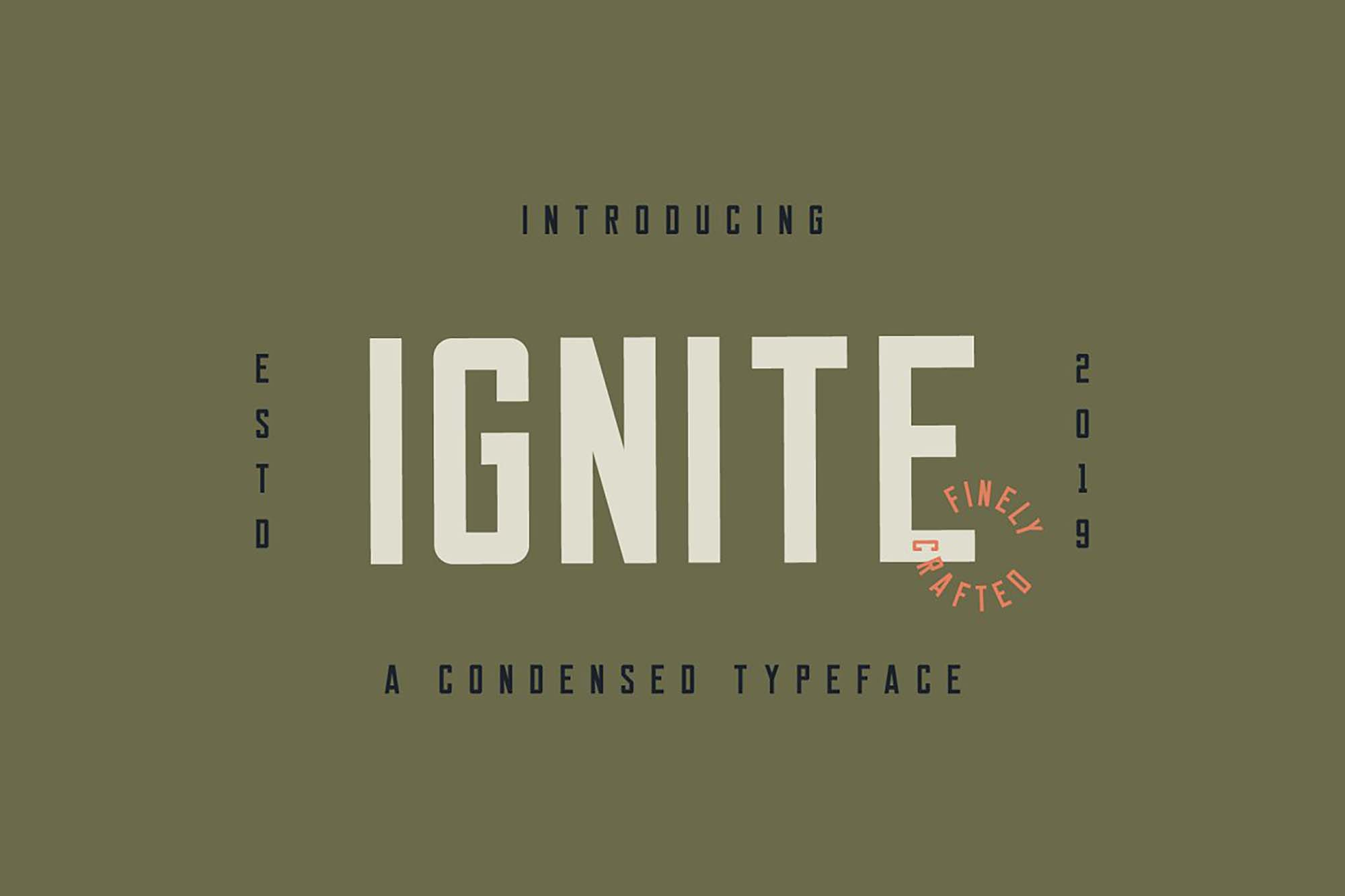 Ignite Font Letters