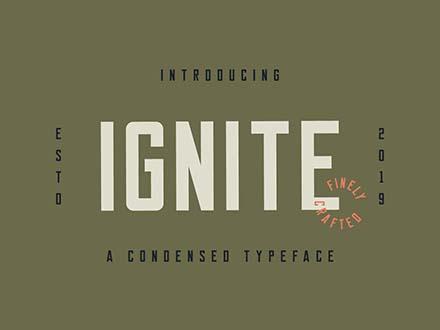 Ignite Font Letters