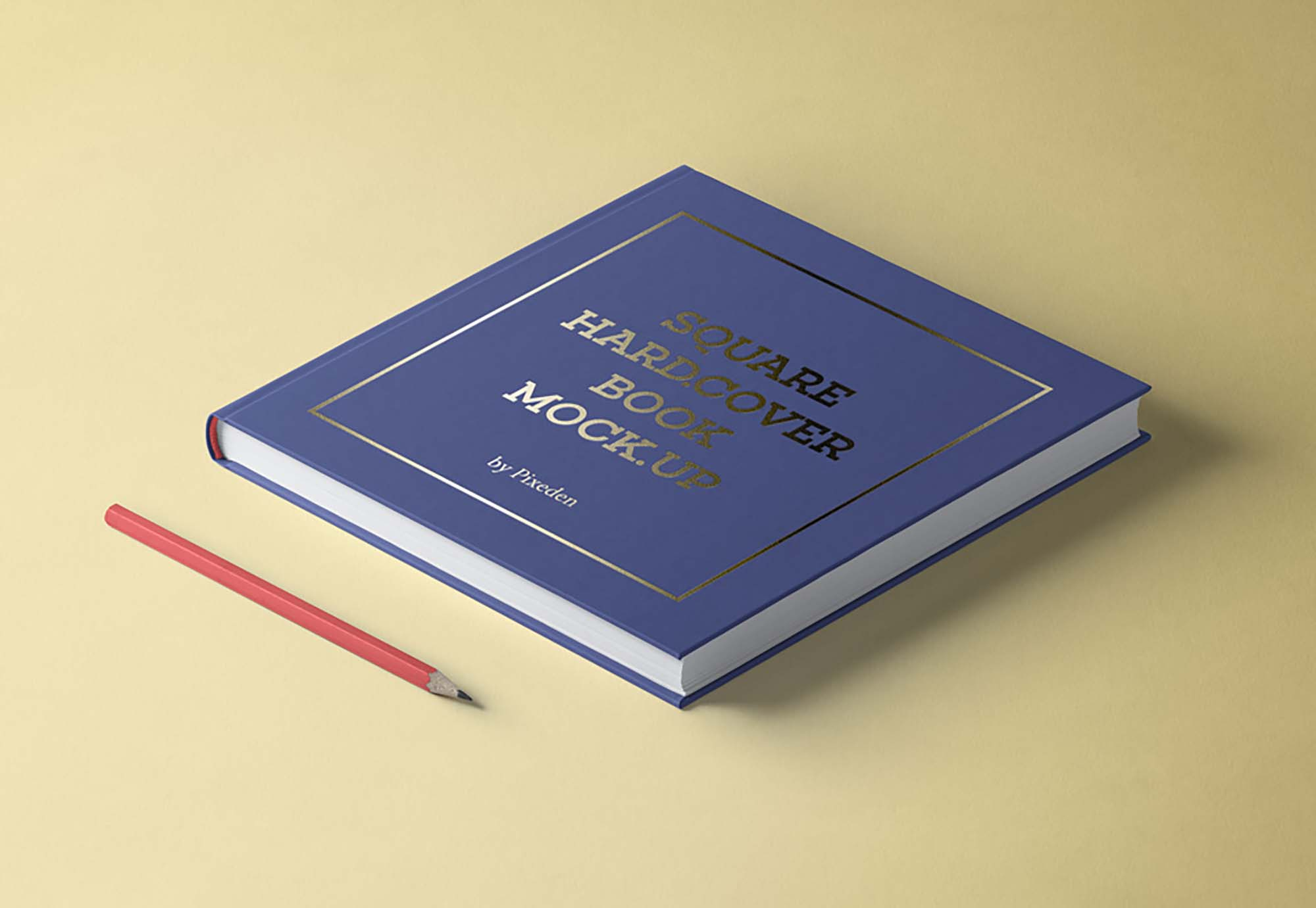 Isometric Square Hardcover Book Mockup