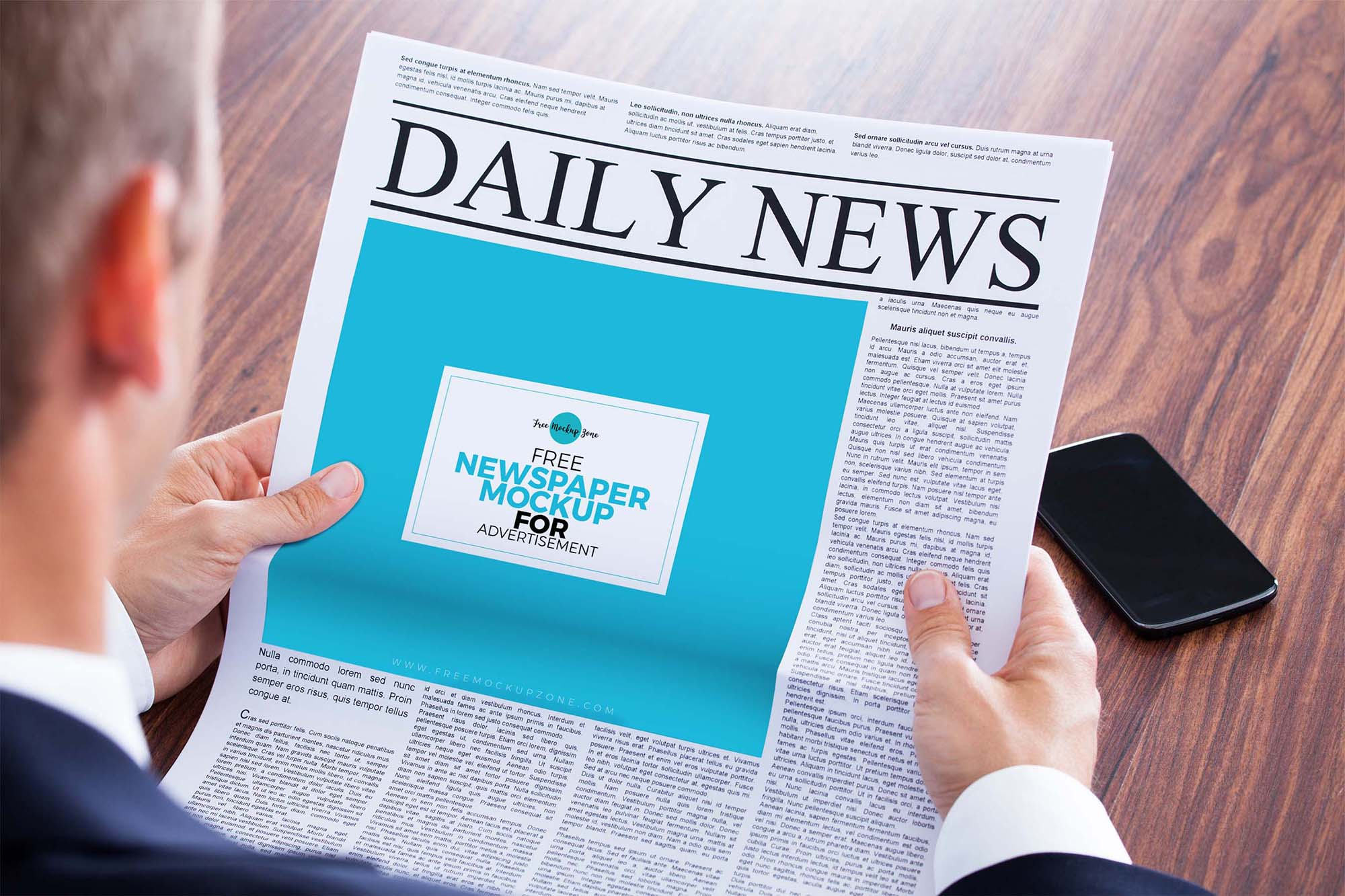 Newspaper Advertisement Mockup 1