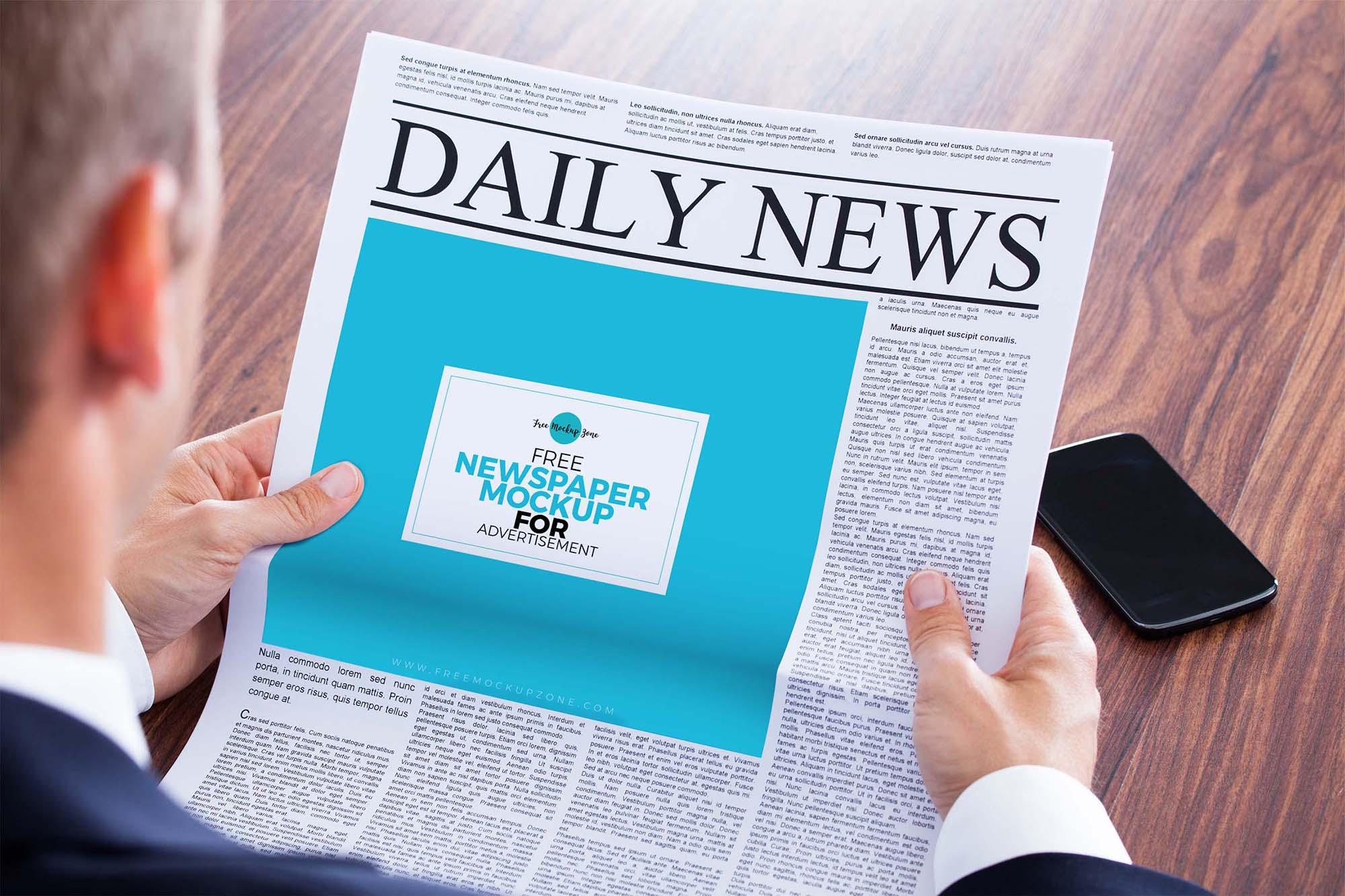 Newspaper Advertisement Mockup 1