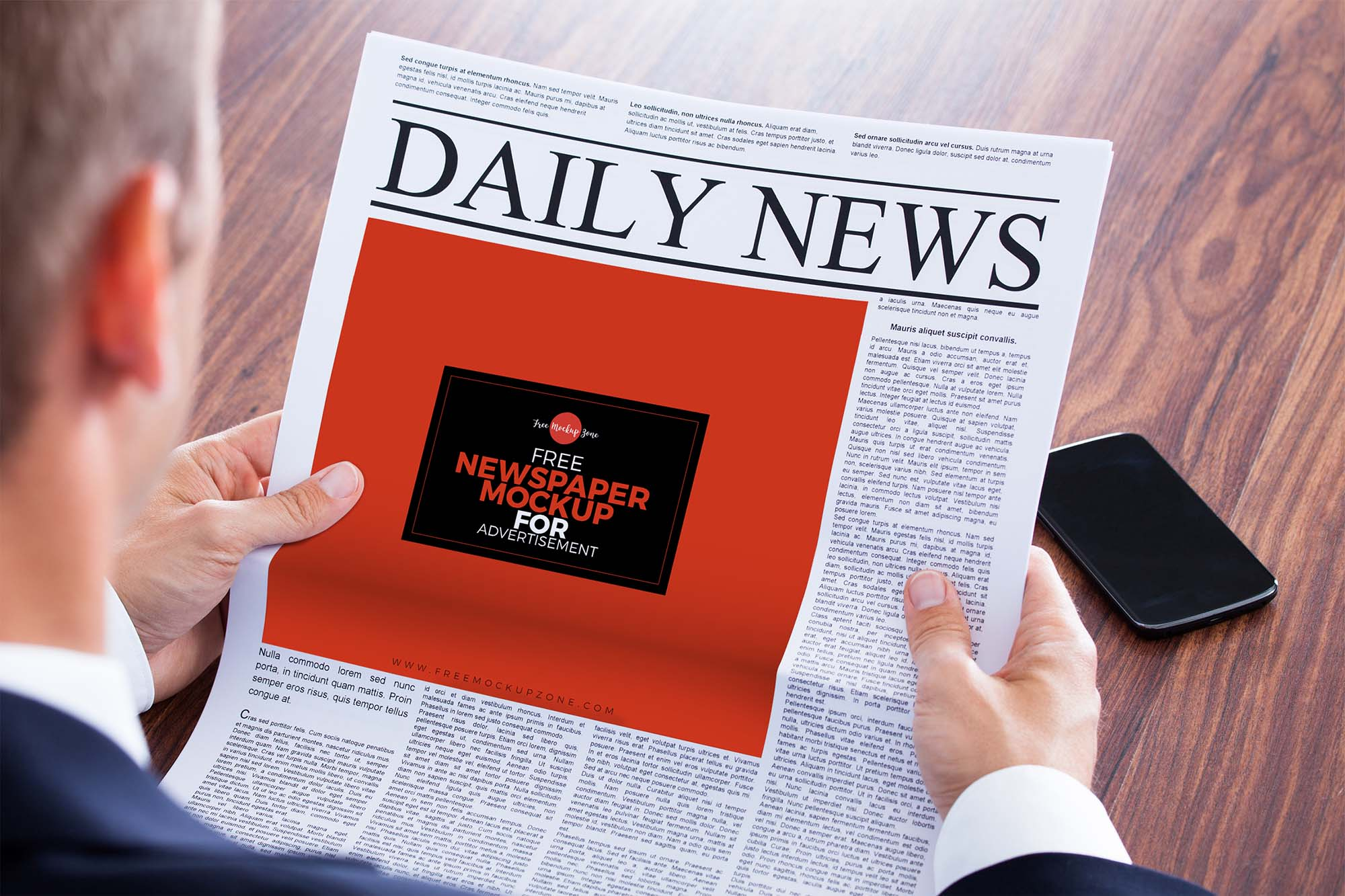 Newspaper Advertisement Mockup