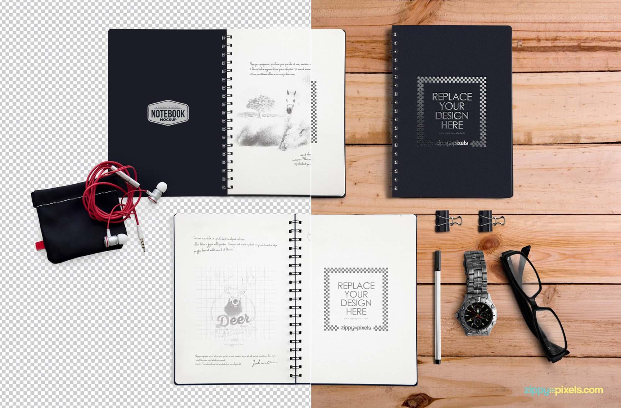 Notebook Scene Mockup 1