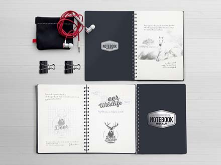 Notebook Scene Mockup