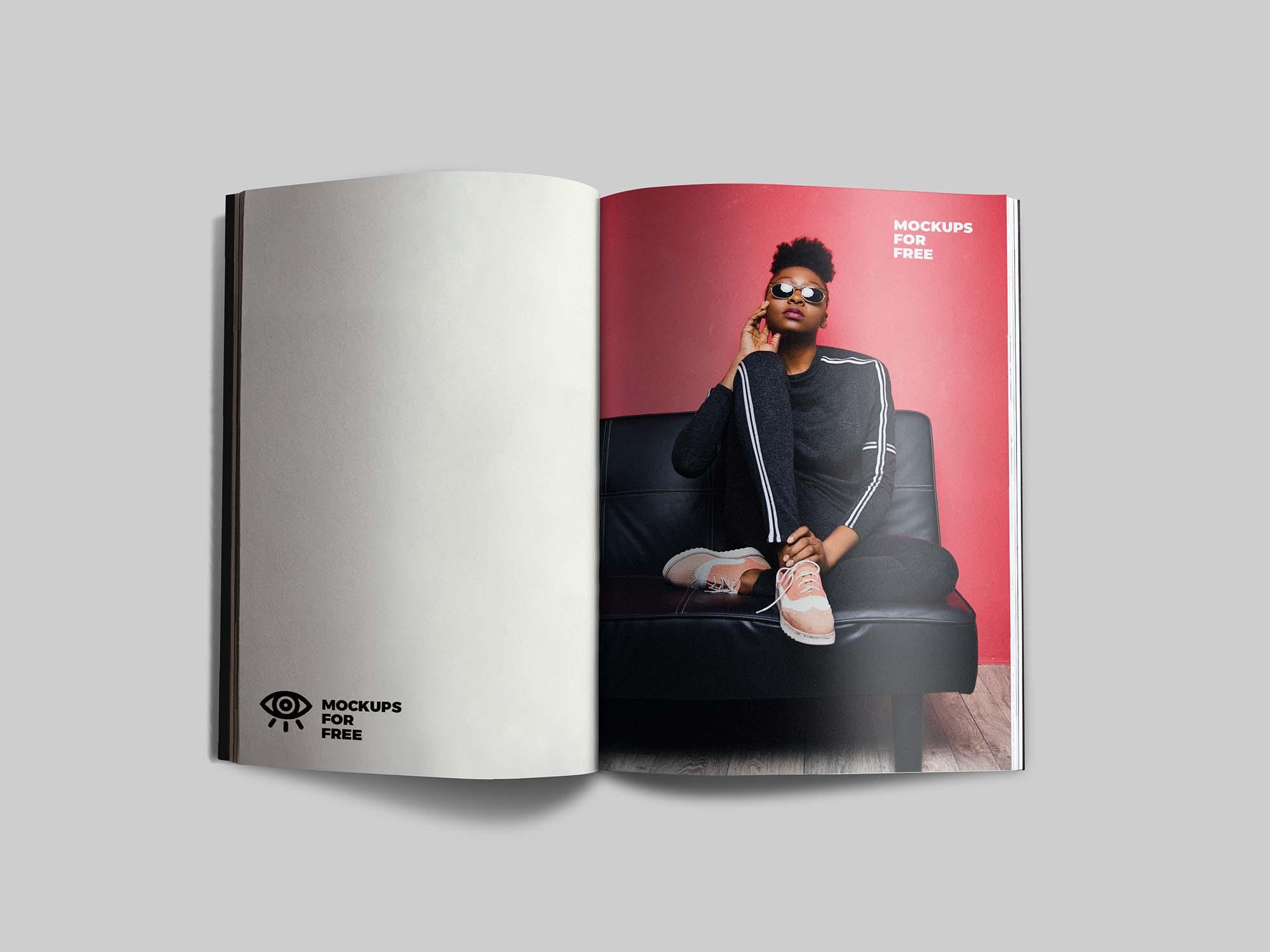Open Magazine Mockup 1