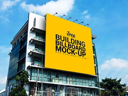 Outdoor Advertisement Building Billboard Mockup