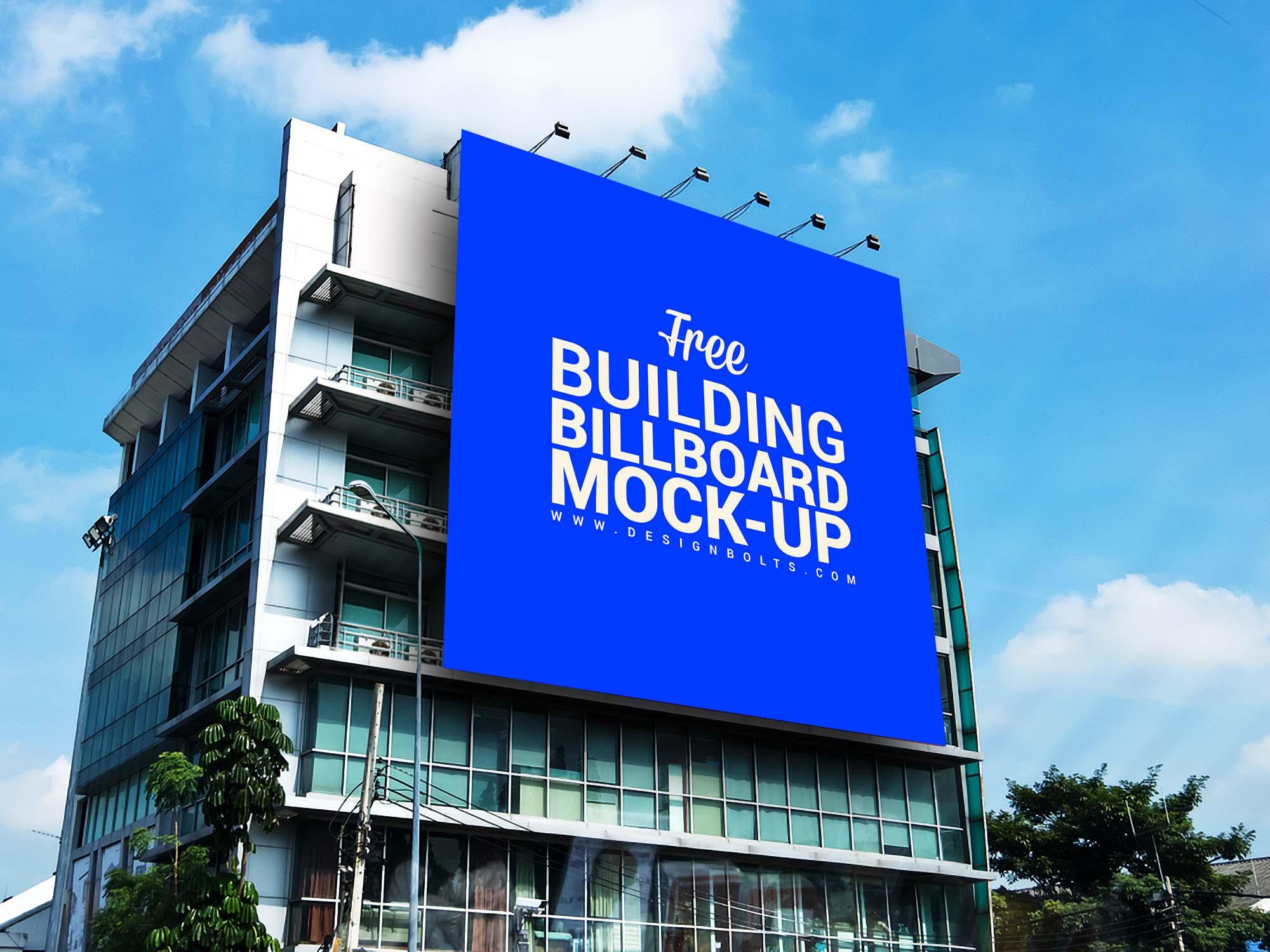 Outdoor Advertisement Building Billboard Mockup 2