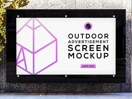Outdoor Advertising Screen Mockup
