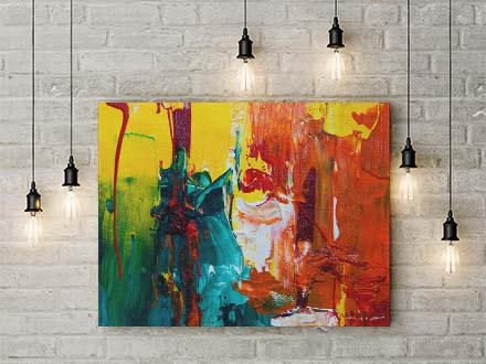 Painting on a Wall Mockup