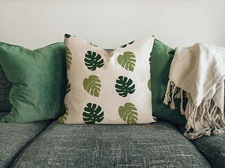 Pillow on Sofa Mockup