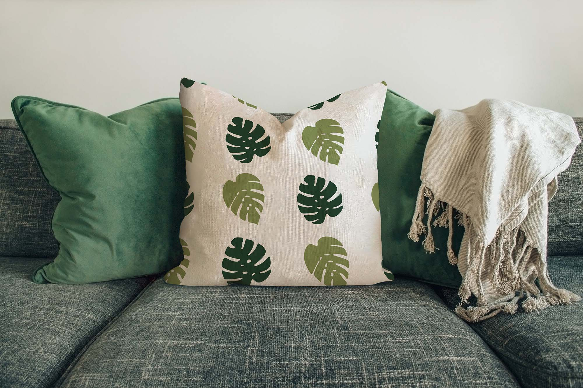Pillow on Sofa Mockup