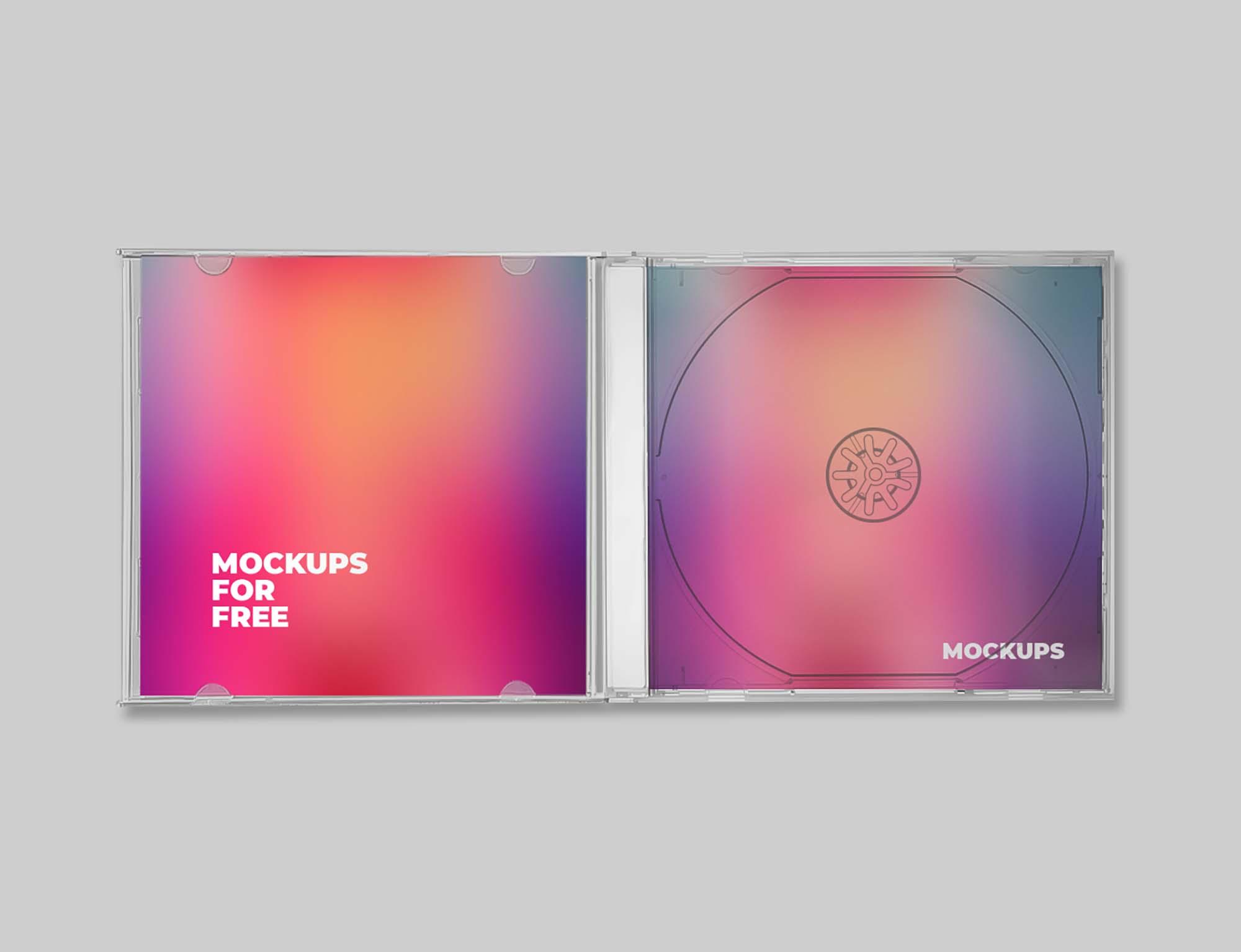 Plastic CD Mockup