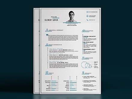 Precise Blue Resume Template