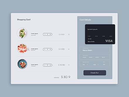 Restaurant Shopping Cart Ui Template