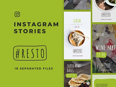 Resto Instagram Stories Template