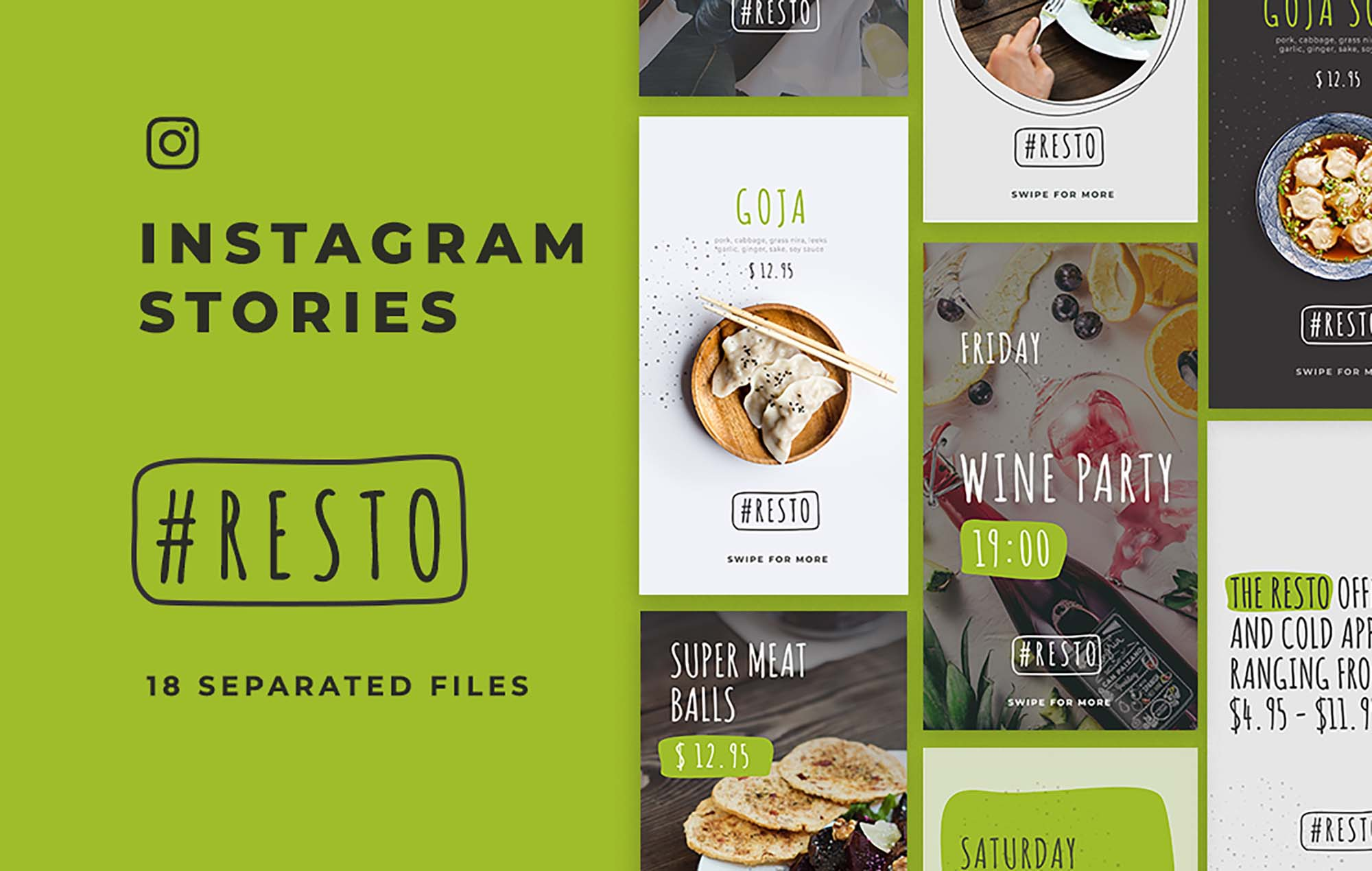 Resto Instagram Stories Template