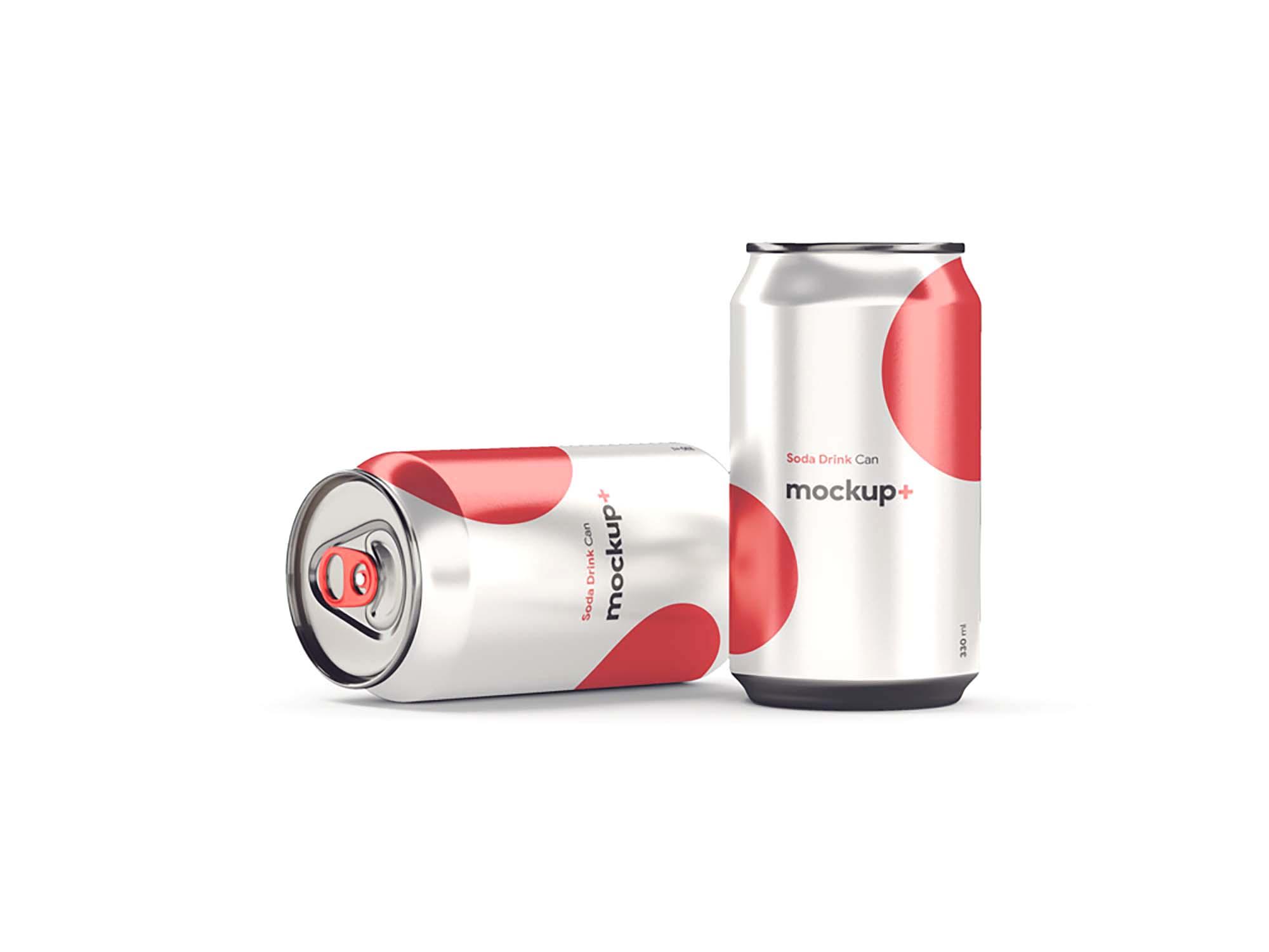 Soda Drink Can Mockup 2