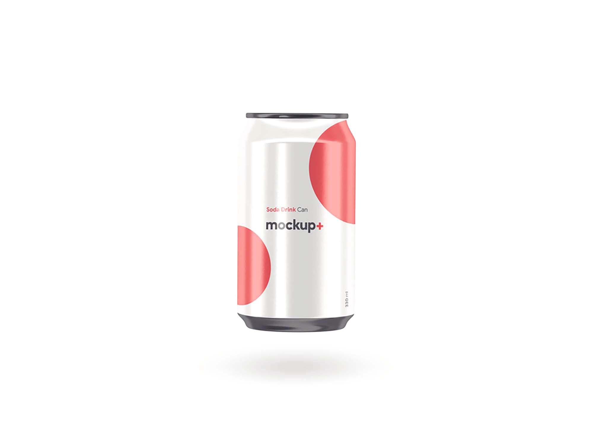 Soda Drink Can Mockup 3
