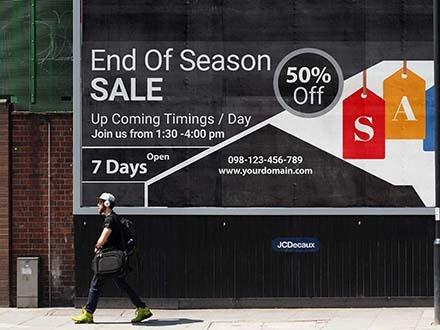 Street Banner Billboard Mockup