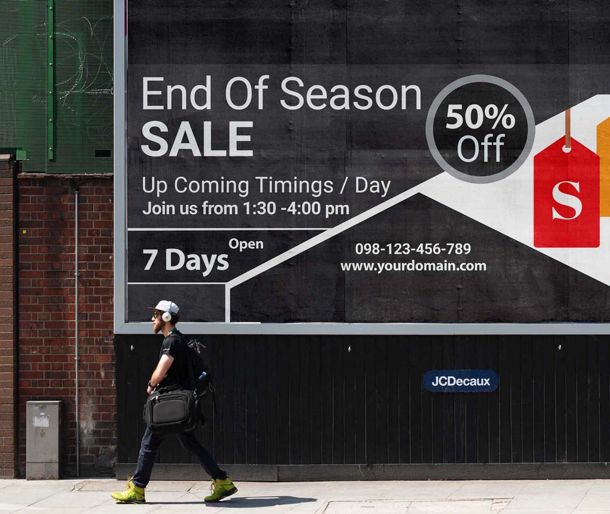Street Banner Billboard Mockup 2