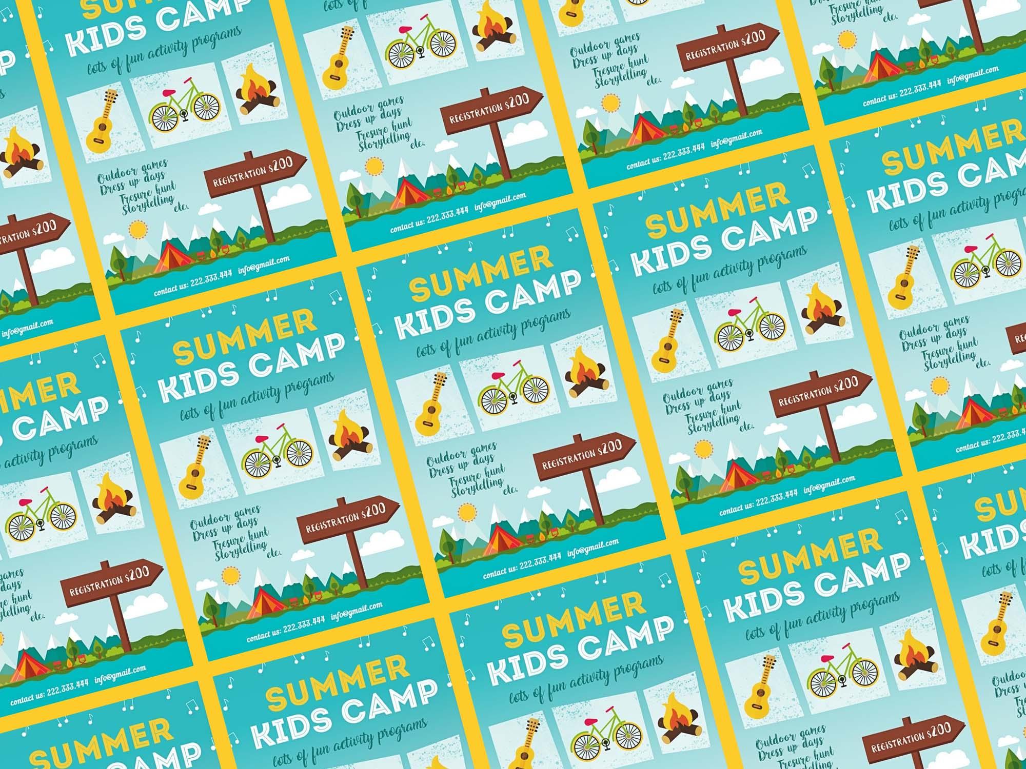Summer Kids Camp Flyer Template