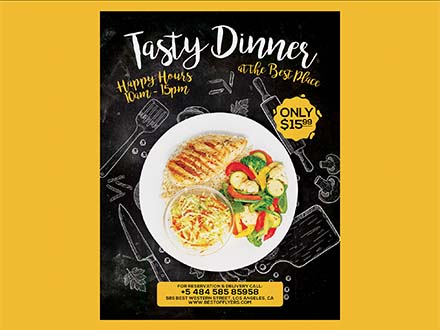 Tasty Dinner Poster Template