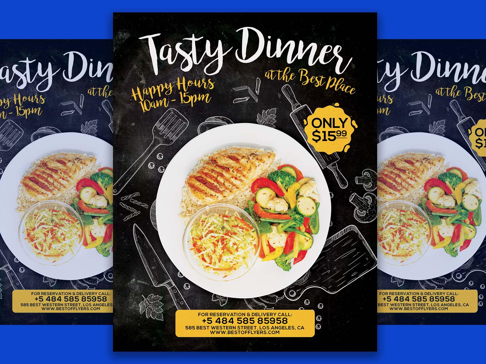 Tasty Dinner Poster Template 2