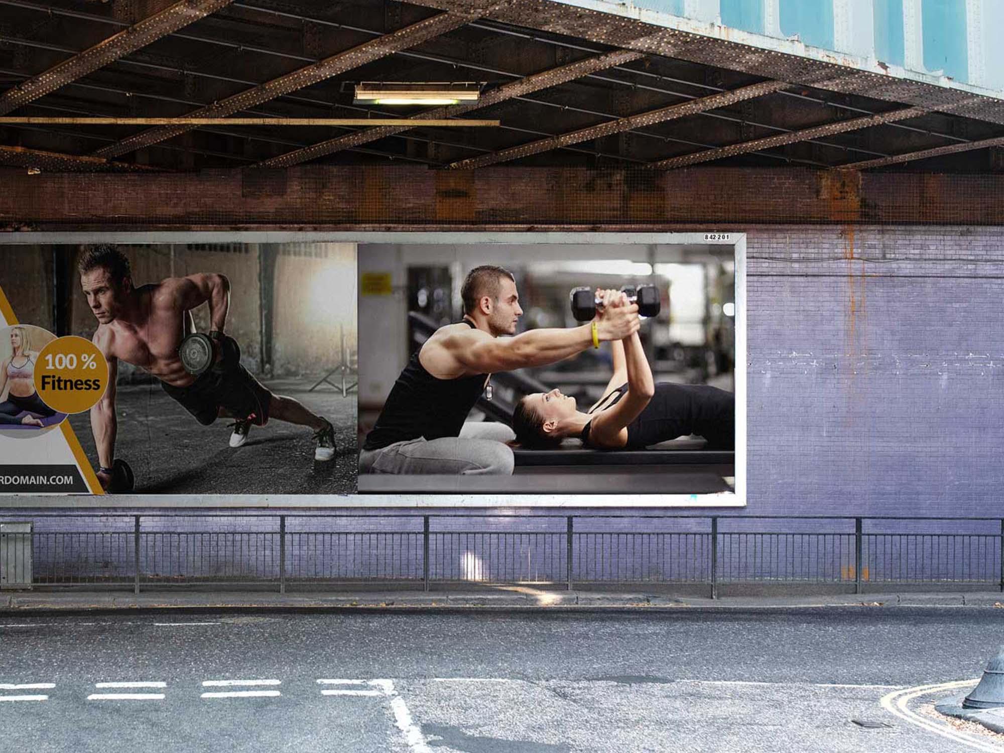 Under Flyover Billboard Mockup 2