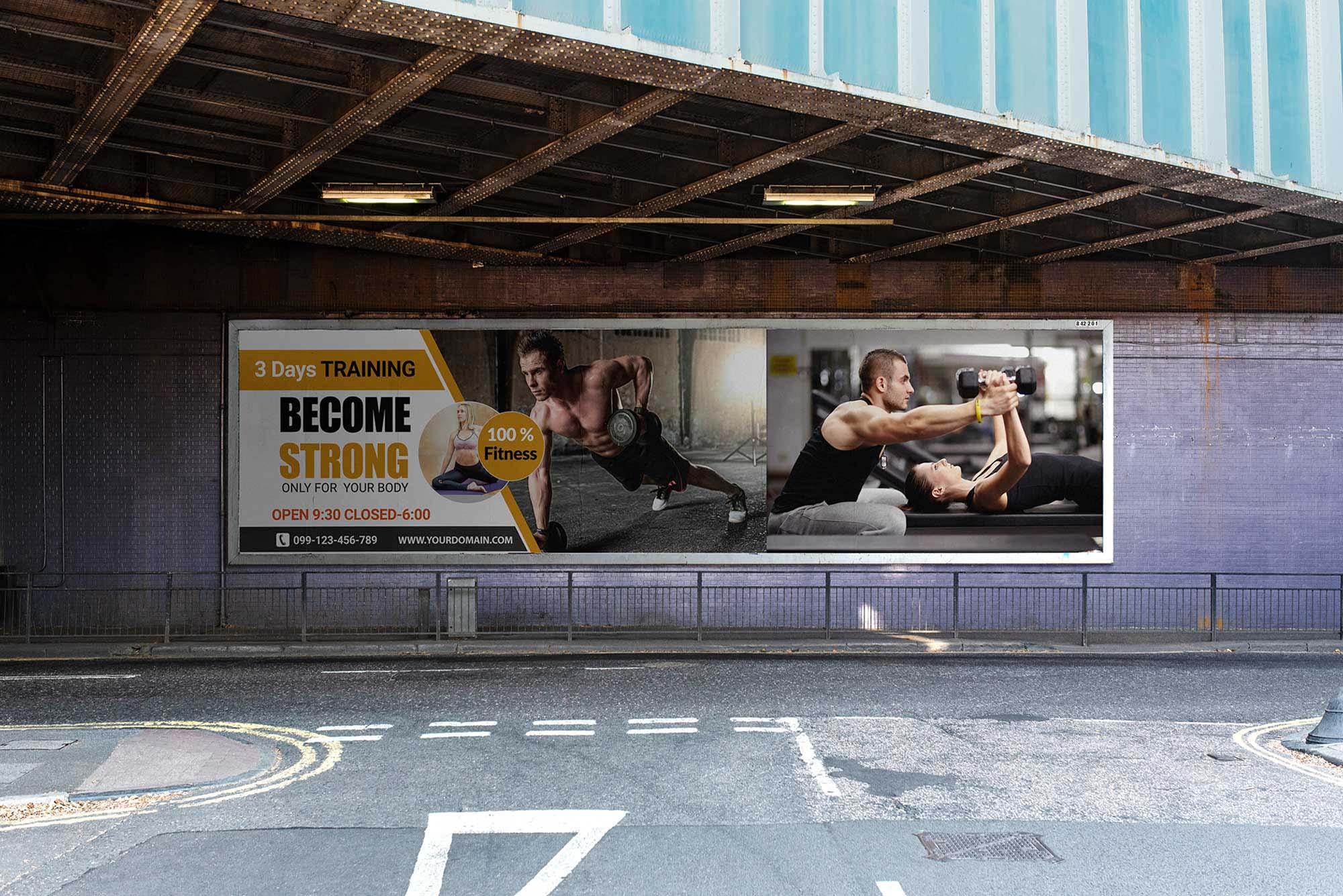 Under Flyover Billboard Mockup