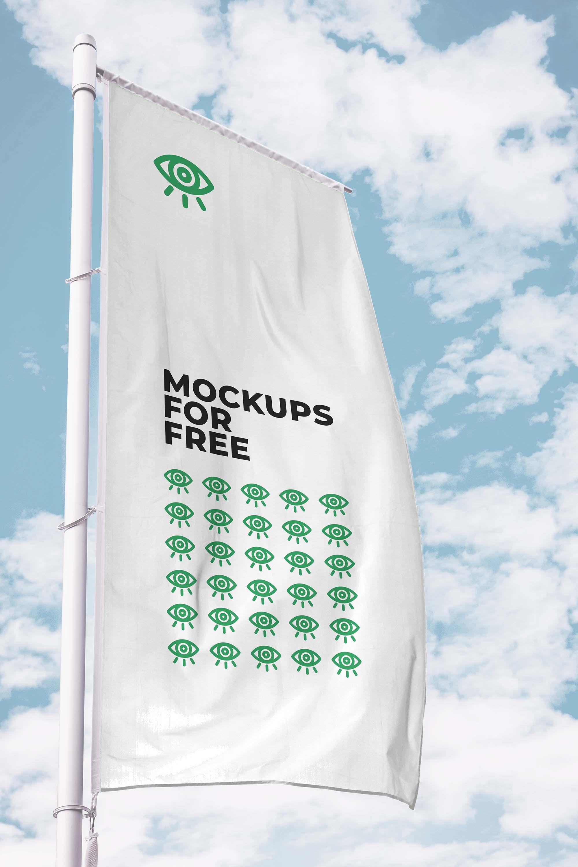Vertical Flag Mockup 2