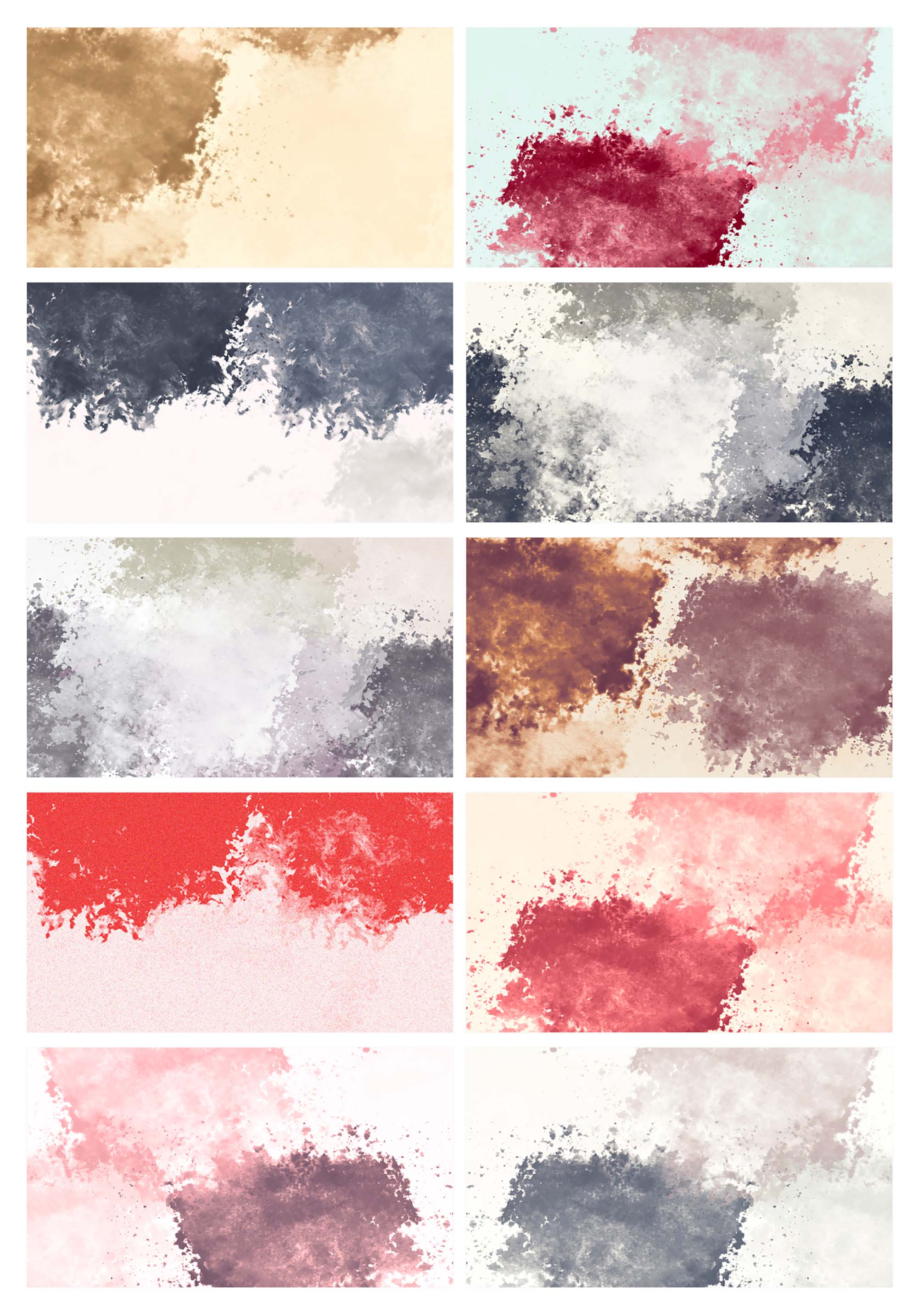 10 Watercolor Textures