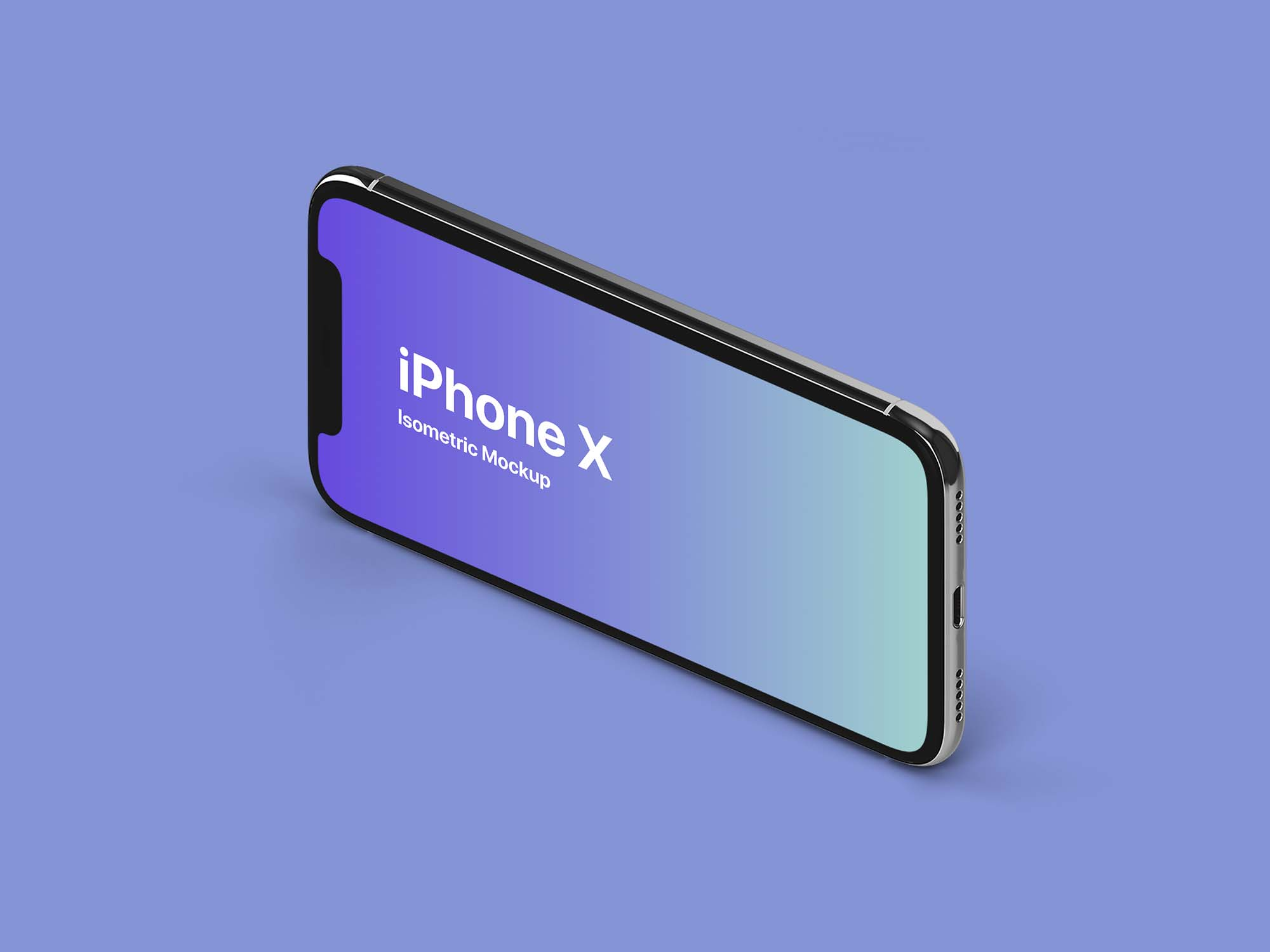iPhone X Landscape Mockup