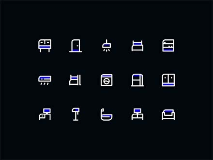 15 Free Furniture Icons