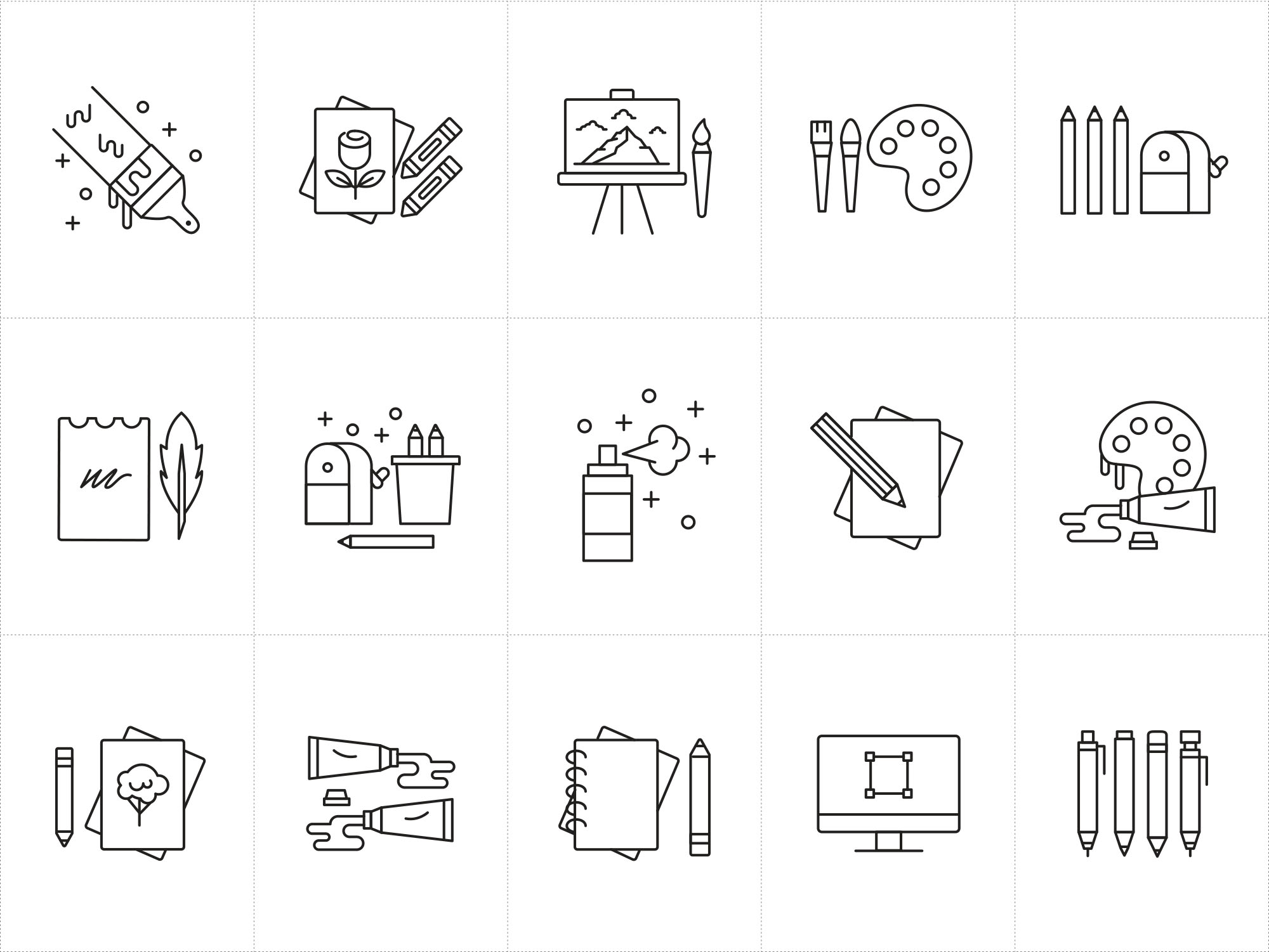 Artist Tools Vector Icons