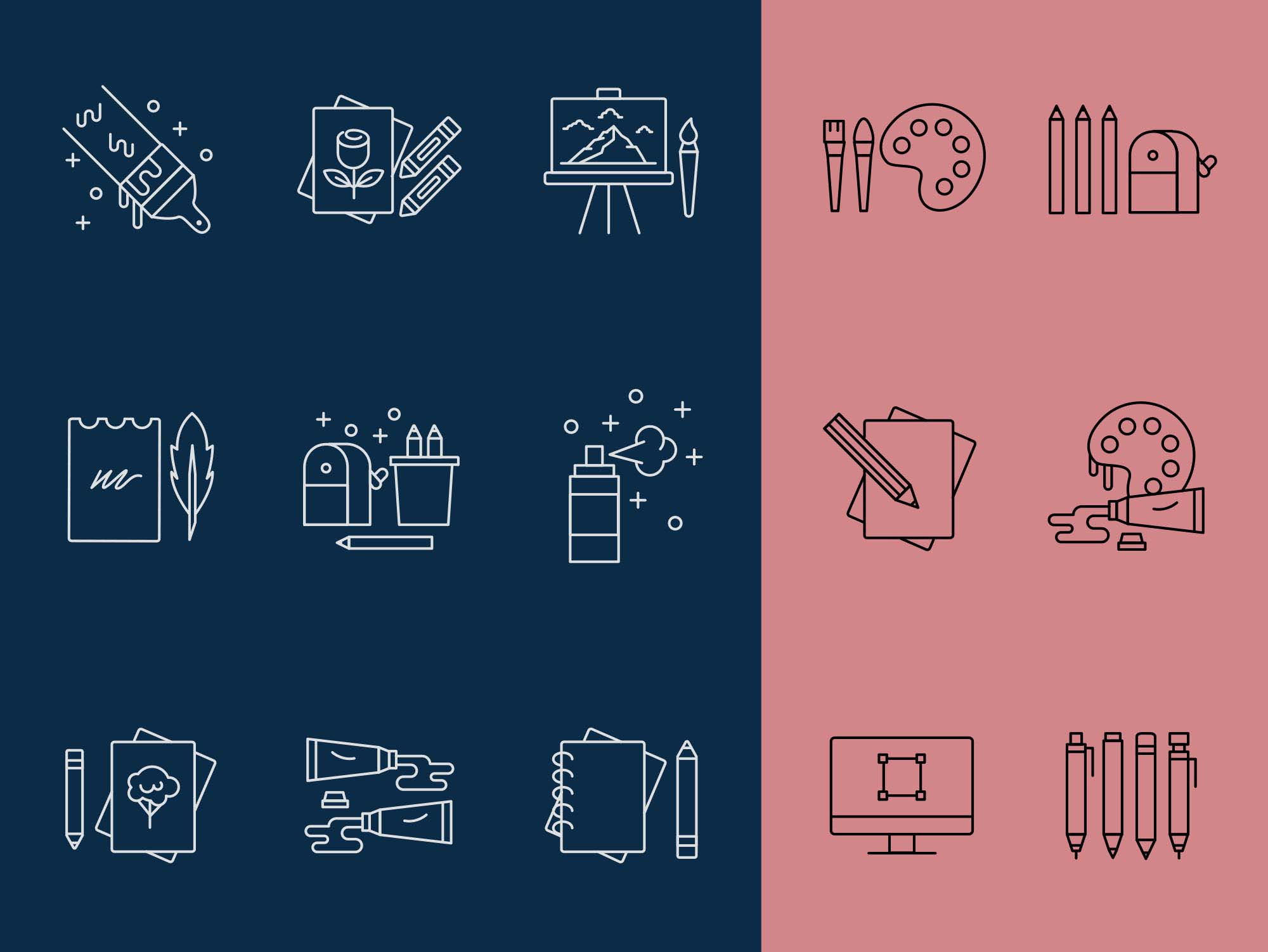 Artist Tools Vector Icons 2