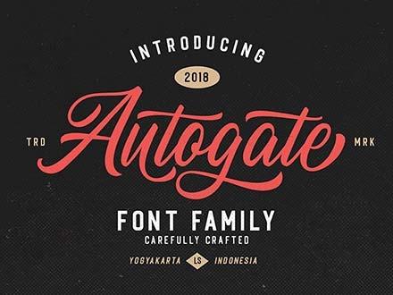 Autogate Script Duo Font 4