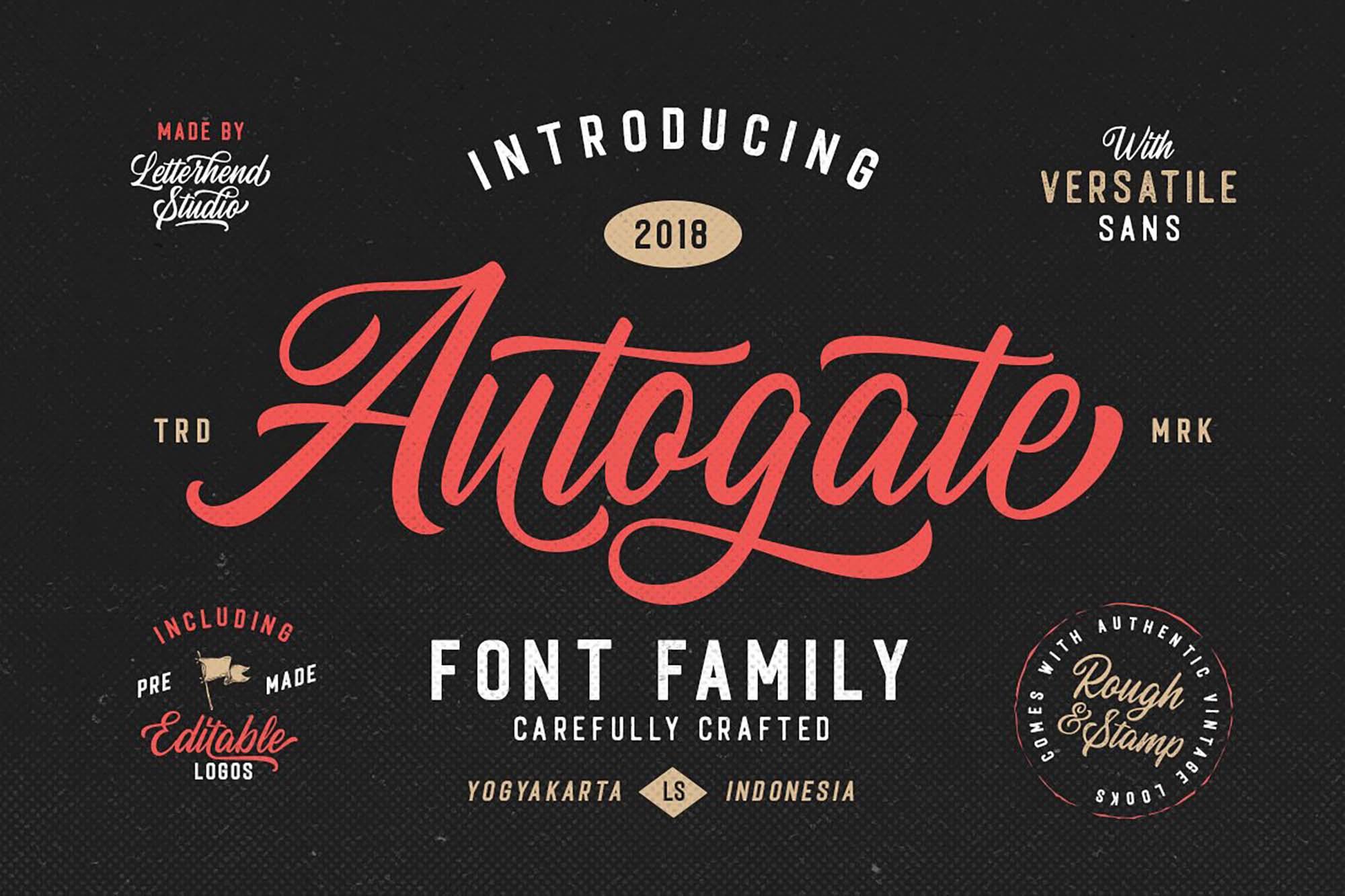 Autogate Script Duo Font