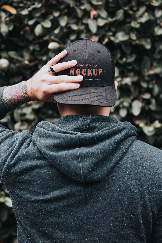 Black Cap Mockup