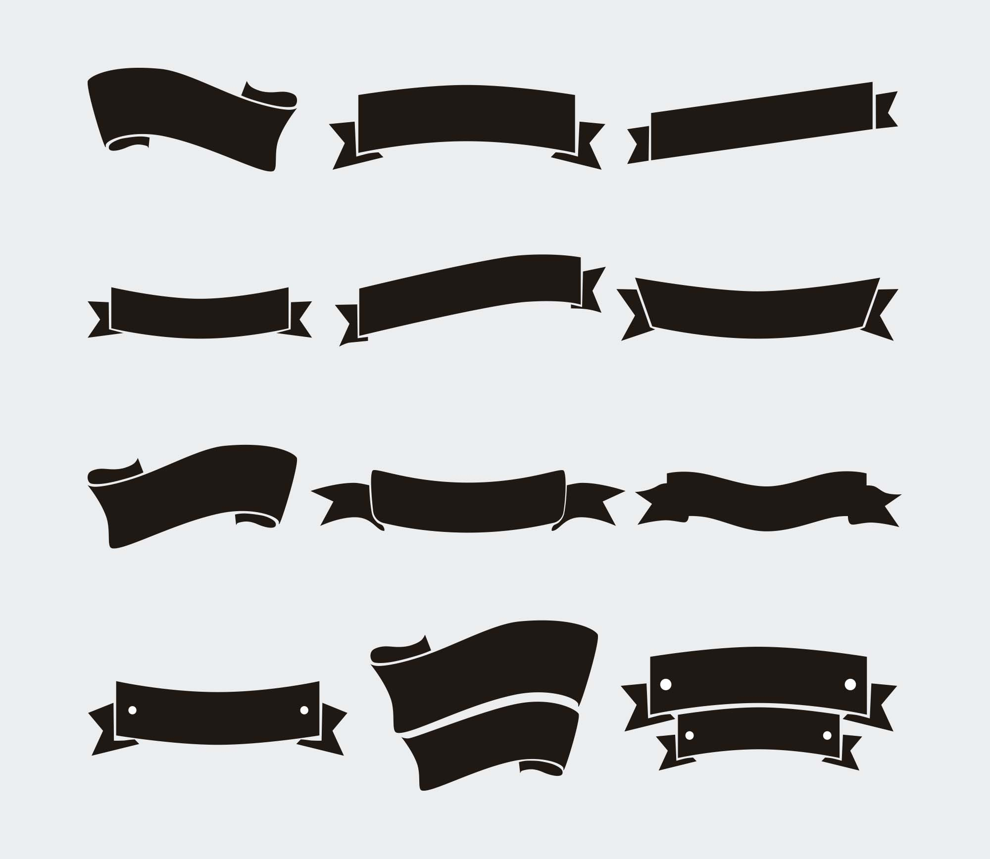 Black Vector Ribbons