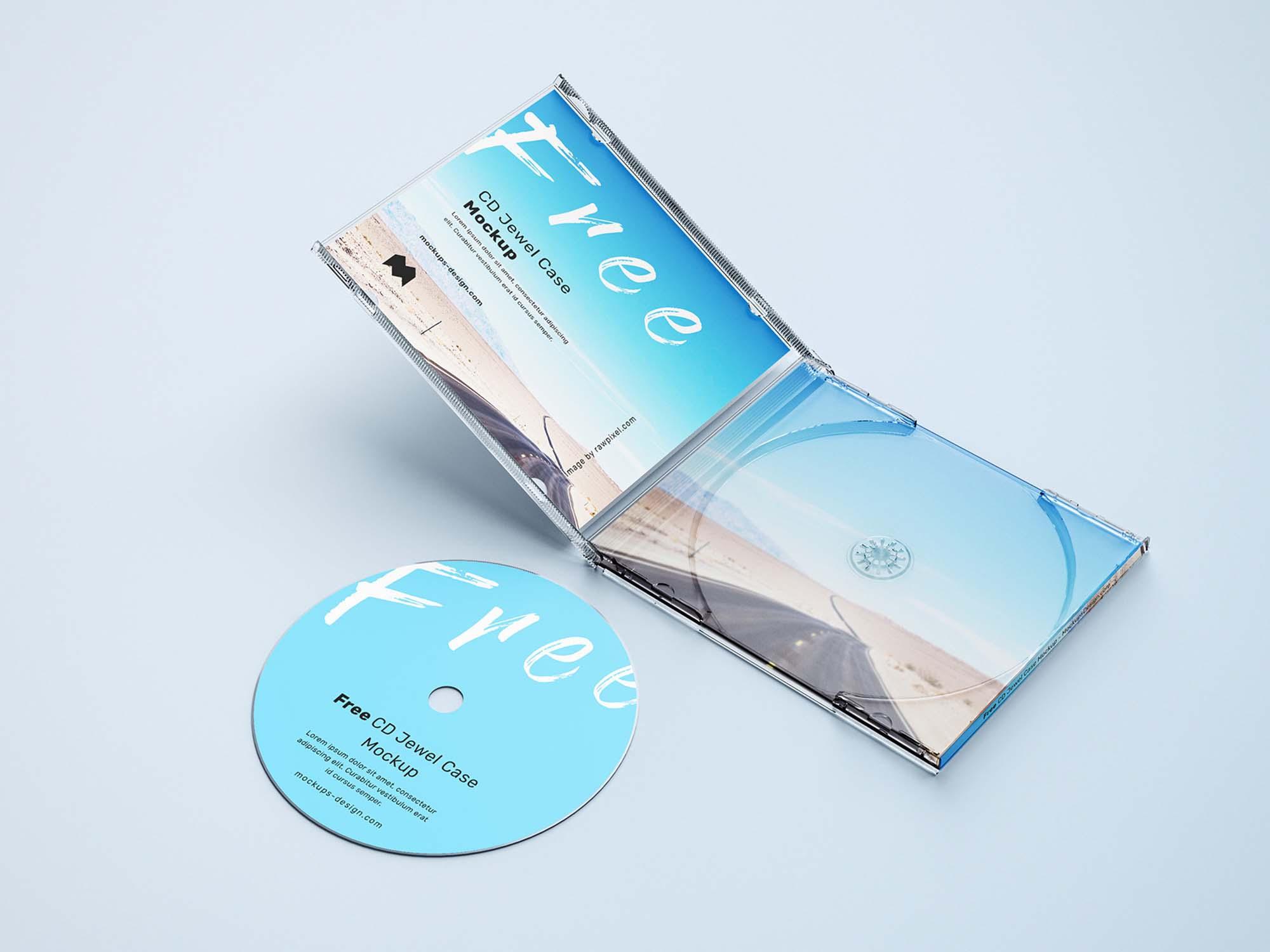 CD Jewel Case Mockup 2