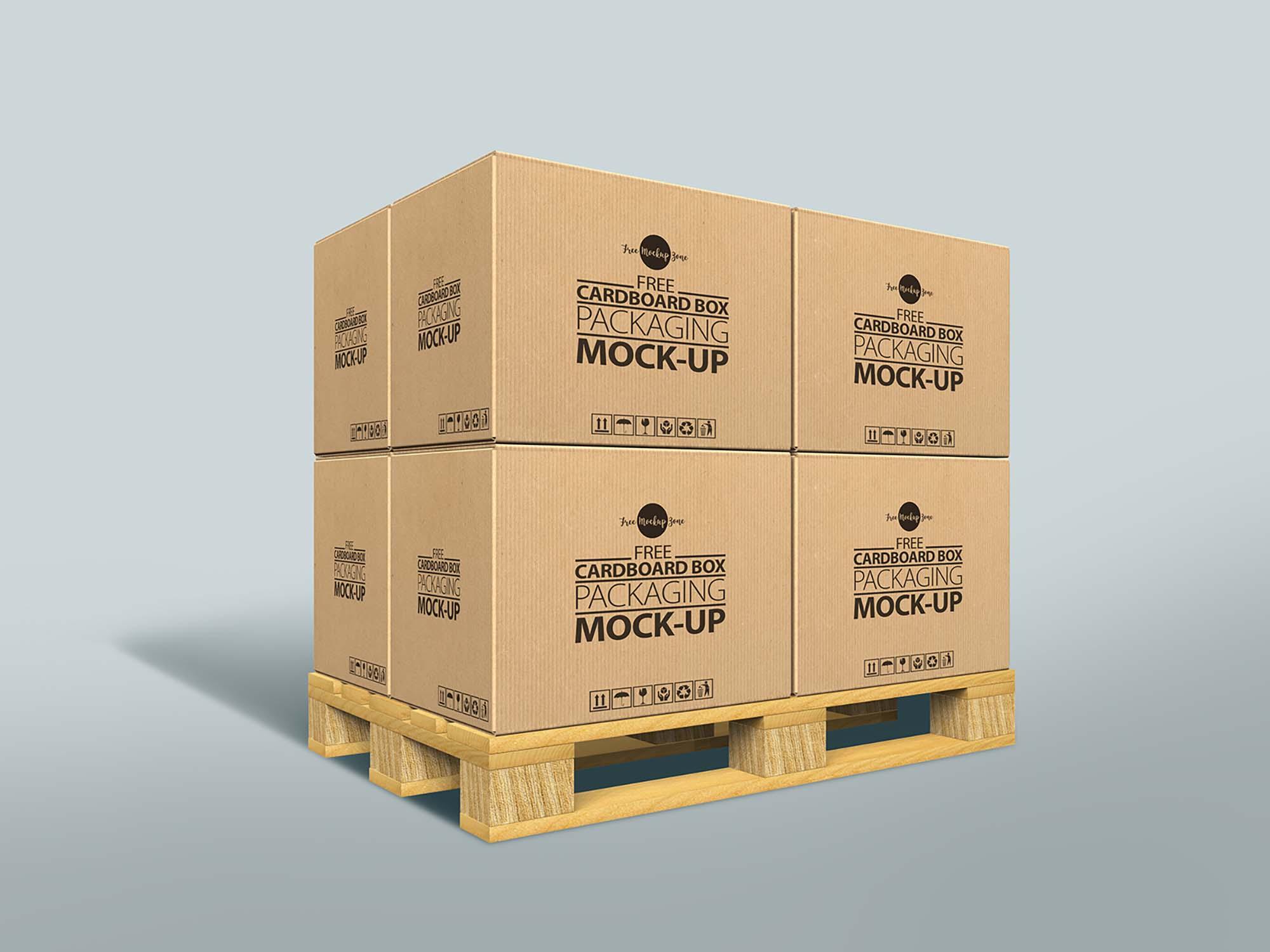 Cardboard Box Packaging Mockup
