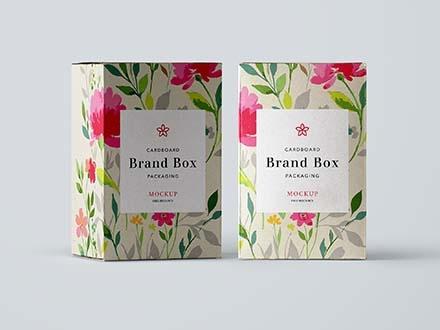 Cardboard Packaging Mockup